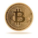 Bitcoin in Darstellung einer Münze