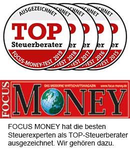 Bohn Top Steuerberater Auszeichnung